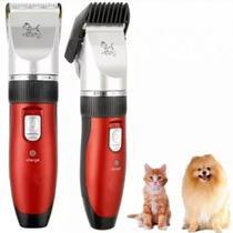 Maquina De Tosa Cães Gato S/fio 3w Recarregável Branco Durawell KM-6188 Bivolt  Vermelha - Kemei