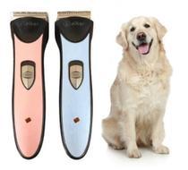 Maquina de Tosa Sem Fio Profissional Recarregável para Cachorro e Gato - AG-097 - Tomate