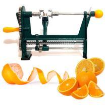 Maquina descascador de laranja manual com manivela descascadora de frutas limao lamina ajustavel com morsa para fixacao de mesa e bancada - GIMP