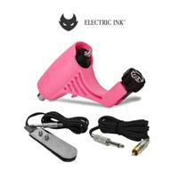 Maquina Electra Pop Rosa Pink + Pedal e Cabo Tattoo tatuagem - Electric Ink