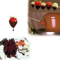 Máquina Fondue Profissional Cascata de Chocolate Fonte de Chocolate Elétrica Festas Eventos -