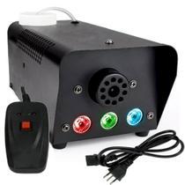 Máquina Fumaça 600w 3 Leds Iluminação RGB Controle Remoto - Luatek