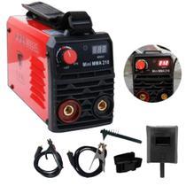 Máquina Inversora De Solda Digital Bivolt Mma-210 Usk + Kit -