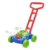 Máquina Lançador De Bolhas Carrinho De Empurrar Brinquedo - Dm Toys