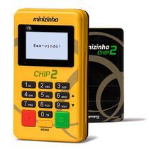 Maquina Minizinha Chip 2  Sem aluguel Aceita Débito, Crédito e Refeição 3G+ Wifi +Bluetooth- CHIP VIVO - Pax