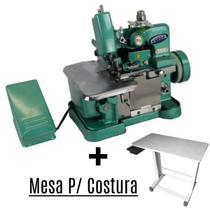 Maquina Overlock Industrial + Mesa P/ Maquina De Costura - Tander