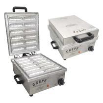 Maquina Para Crepes Suiços 12 Cavidades Inox Escovado 2000w - Ademaq (220v) -