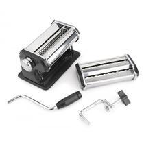 Máquina para fazer macarrão manual caseira preparar 3 tipos de massas preta luxo cilindro hauskraft - Western