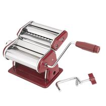 Máquina para fazer macarrão manual caseira preparar 3 tipos de massas vermelha luxo cilindro hauskra - Western