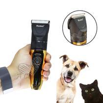 Maquina Para Tosa Pet Profissional Recarregável Cães Gatos Pet Sem Fio Kemei KM-6189 -