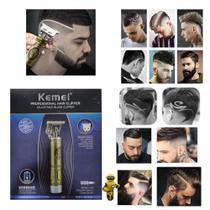Maquina Perfect Barber T9 Dragão Hair Trimmer Elétrico Retro Sem Fio Corte Degradê Acabamento - Kemei