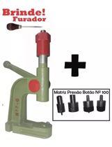 Maquina Pressão Pregar Botões Ilhós Rebite + Furador - Realiza Costura