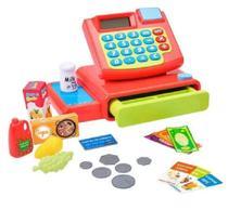 Máquina Registradora Brinquedo Infantil Acessórios - DM Toys -