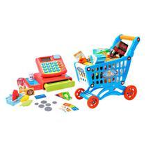 Máquina Registradora Infantil com Carrinho Hora das Compras - Dm Toys