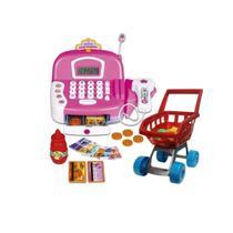 Máquina registradora infantil de brinquedo com carrinho compra grande e acessórios Zoop - Zoop Toys