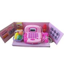 Máquina registradora infantil de brinquedo  para criança com  Cesto de Compras e acessórios BBR P - Bbr Toys