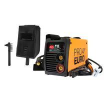 Máquina Solda Inversora GP 165a Bivolt 110v 220v - Pró-Euro + Escudo e Escova de Aço - PRO EURO