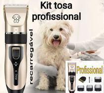 Máquina tosa pet cachorro gato profissional pet Clipper kit completo foto real - Amvshop7