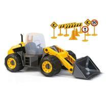 Maquina Trator Escavadeira Brinquedo Articulada - Brasil