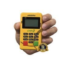 Maquininha Minizinha Chip 2 Sem aluguel Aceita Débito, Crédito e Refeição 3G  Wifi + CHIP CLARO - Pagseguro