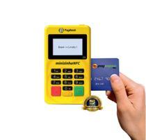 Maquininha Minizinha NFC Debito, Credito, pagamento por aproximação (NFC)  sem aluguel Bluetooth - Pagseguro