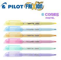 Marca Texto Apagável Pilot Frixion Light Pastel - Kit C/6 -