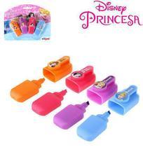 Marca texto mini infantil colors kit com 4 pecas princesas na cartela - Etipel