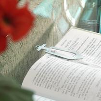 Marcador de Página/Livros em Inox Escovado - Cruz - Maxx Diamond