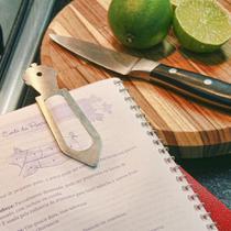 Marcador de Página/Livros em Inox Escovado - Cup Cake - Maxx Diamond