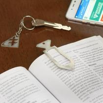 Marcador de Página/Livros em Inox Escovado - Diamante - Maxx Diamond