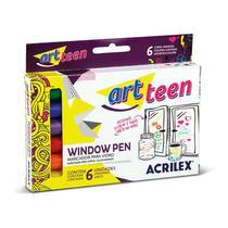 Marcador para vidro Window Pen - com 6 unidades - Acrilex -