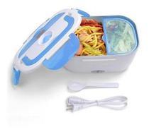 Marmita Elétrica Portátil com Divisórias Tomada 110v Electronic Lunchbox Azul e Branco - Outros