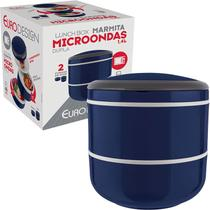 Marmita Lunch Box Microondas Dupla - Euro Home