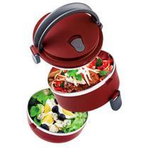 Marmita Lunch Box Térmica 2 em 1 Vermelha 1,4 Litros Lb 1234 Euro -