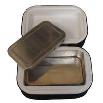 Marmita Térmica Em Alumínio Com Isopor e Capa em TNT Retangular - Boca Kente -