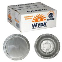 Marmitex N9 Alumínio 1200 ml Fechamento Maquina 100 unidades  Wyda -