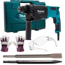 Martelete perfurador e rompedor 800W 2,3 joules M8701B + Kit de acessórios - Makita -