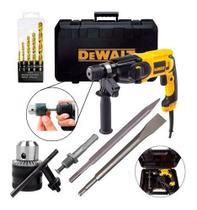 Martelete perfurador rompedor 800 watts sds-plus D25133K  110V - DeWalt + Kit Broca, Ponteria e Talhadeira -