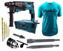Martelete Perfurador Rompedor 830w Hr2630j Makita 110v com camiseta -
