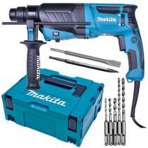 Martelete SDS-Plus 830W HR2630J 2,8KG com Maleta MAK-PAC, Kit Brocas, Talhadeira e Ponteiro MAKITA -