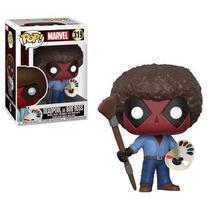 Marvel Deadpool Boneco Pop Funko Deadpool As Bob Ross 319 -