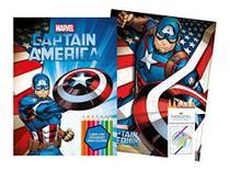 Marvel kit diversao - captain america com quebra-cabeca e lapis de cor - Bicho esperto editora ltda