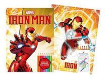 Marvel kit diversao - ironman com quebra-cabeca e lapis de cor - Bicho esperto editora ltda