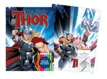 Marvel kit diversao - thor com quebra-cabeca e lapis de cor - Bicho esperto editora ltda