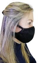 Máscara 3 camadas Tecido Antibacteriano Eletrostático Com Prata e Tela de Proteção Externa Preta - Tékhne