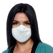 Máscara Antiviral e Antibacteriana Bressan Reutilizável Branco 1 Unidade -
