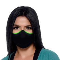 Máscara Antiviral e Antibacteriana Bressan Reutilizável Preto 1 Unidade -