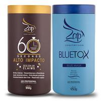 Máscara Bluetox Para Cabelos Loiros + Máscara 60 Seconds - Zap