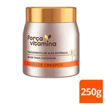 Máscara Capilar De Tratamento Força Vitamina Cabelos Crespos 250g - Forca Vitamina