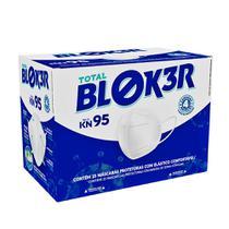 Máscara Cirúrgica Descartável Total Bloker KN95 4 Camadas Elástico + Clip Nasal Caixa com 25 Unidades -
